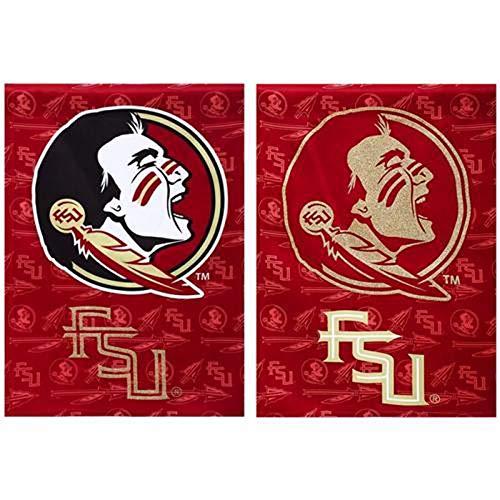 Flag, Suede, Glitter, DS, Garden Size, Florida State University