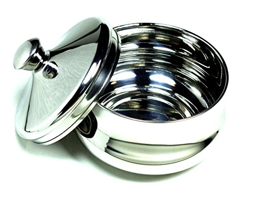 Schöne Stainless Steel Shaving Bowl with Lid - Satisfaction Guarnteed Designed in Austria