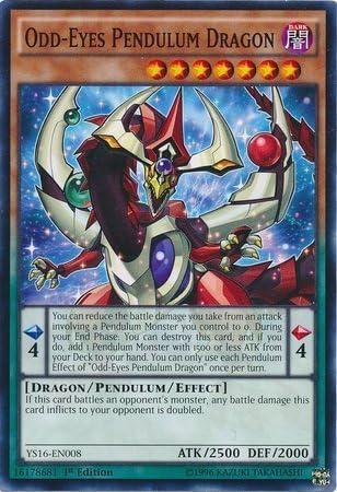 Yu-Gi-Oh! Common by Yu-Gi-Oh! 1st Edition Odd-Eyes Pendulum Dragon - Starter Deck: Yuya YS16-EN008