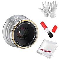 7artisans 25mm F1.8 Manual Focus Prime Fixed Lens for Fujifilm Fuji Cameras X-A1 X-A10 X-A2 X-A3 X-AT X-M1 XM2 X-T1 X-T10 X-T2 X-T20 X-Pro1 X-Pro2 X-E1 X-E2 X-E2s - Silver