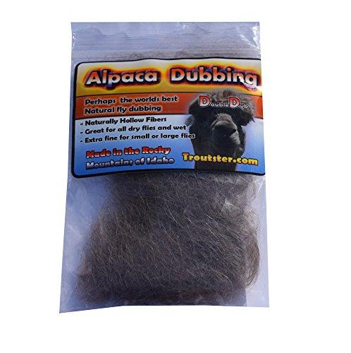Troutster Alpaca Dubbing - Super Fine Natural Dry Fly Dubbing Material (Adams Grey) -