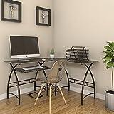 Ryan Rove Stillman 3-Piece Corner L-Shaped Computer Desk in Black