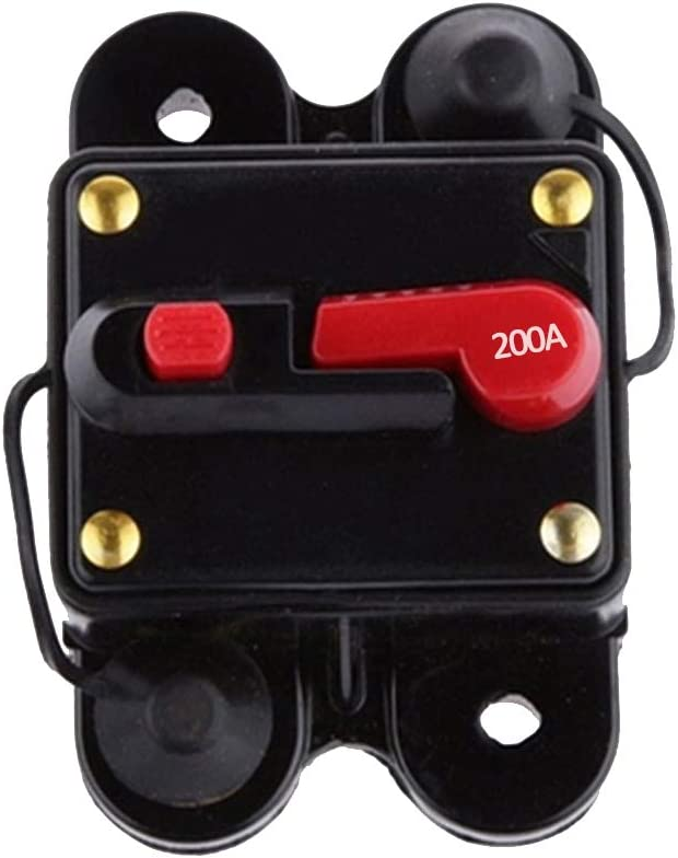kaakaeu 1 Pezzo 80-300 A AMP 12 V-24 V Car Marine Stereo Audio Inline Electric Replacement Fusibile Circuit Breaker 100a