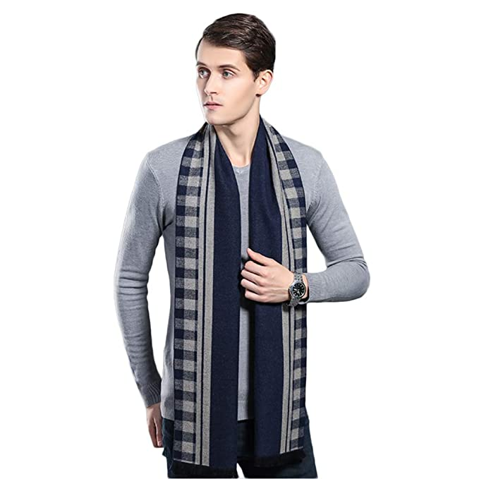 e9f5a06072815 Mens Winter Cashmere Scarf, Super Long & Fashion Formal Soft Scarves for Men  (Blue