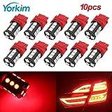 Yorkim Super Bright 3157 LED Light Bulbs Red Pack of 10, 3157 LED Brake Lights, 3157 LED Backup Reverse Lights, 3156 LED Reverse Tail Lights, Turn Signal Led - 3056 3156 3057 3157 4157 LED Bulbs: more info