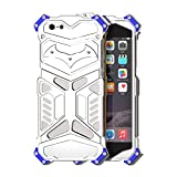 """Happy Hours - Dust + Shock Proof iPhone 5/5G/5S/SE 4"""" Cover / Drop Resistance Space Aluminum Rugged Hybrid Armor Protective Case Shell for Apple(Sliver)"""