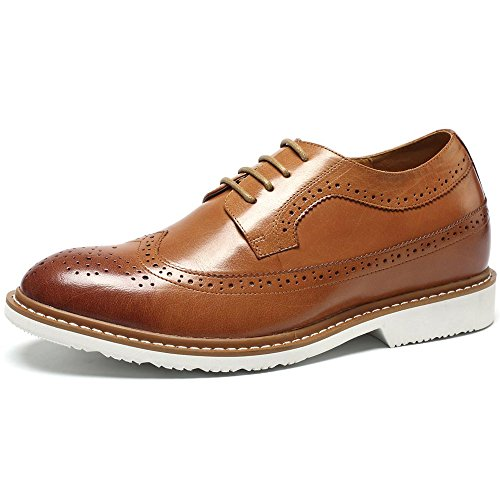 CHAMARIPA Height Increasing Elevator Shoes 2.56'' Taller Men Dress Brogue Shoes DX60B06-1 US 6.5 by CHAMARIPA