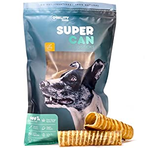 6-Inch Beef Trachea for Dogs [ 10 Pack ] By SuperCan Bully Sticks - 100% all Natural Dog Treats and Chews. Grass Fed Cattle Beef for a Delicious and Healthy Rawhide Alternative for Dogs