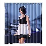 SNOWY Custom Demi Lovato Fabric Bathroom Shower Curtain 66
