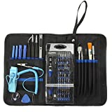 58 piece computer repair tool kit - 74in1 Screwdriver Set,Drillpro Precision Repair Tool,Screwdriver Accessory Kit,Electronics Repair Tool with 58 Bits Magnetic Screwdriver Set for Cell Phone,Tablet,Game Consoles,PC,Macbook,Electronics