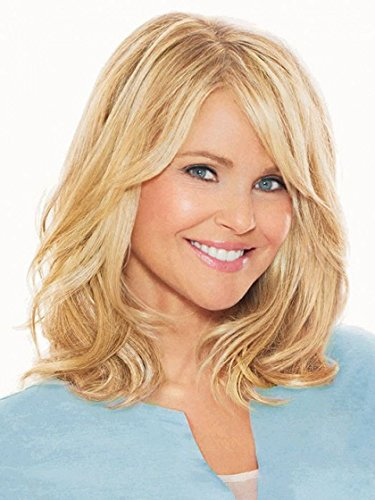 12 Clip On Hair Extensions Color HT56/60 Light Gray - Christie Brinkley Heat Friendly Loose Wavy Texture 1pc Excelle Synthetic Fiber