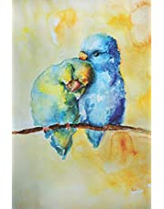Notebook: Cute Birds in Love | Stylish Handmade Watercolor Painting Cover | Perfect for Taking Notes, Journaling or even Doodling | Artistic Blank Lined Notebook with Watercolor Art Design | Pretty College Ruled Composition Journal to Write in
