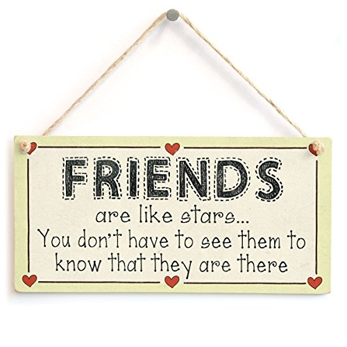 Meijiafei Friends are Like Stars You Don't Have to See Them to Know That They are There - Friendship Gift Sign 10
