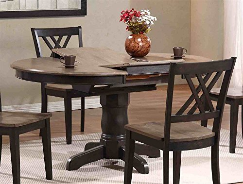 Wooden Round Table - Round Butterfly Leaf Table