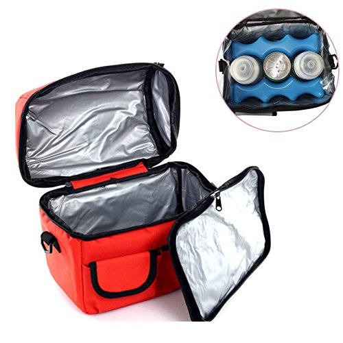 MiCoolker(TM) Cooler Bags Fresh Waterproof Lunch Bag Hold Cold Insulated Package Box Tote Travel Bag for Working Outdoor Camping
