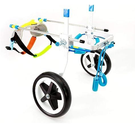 RUNGAO - Silla de ruedas ajustable para mascotas con 4 ruedas para ...