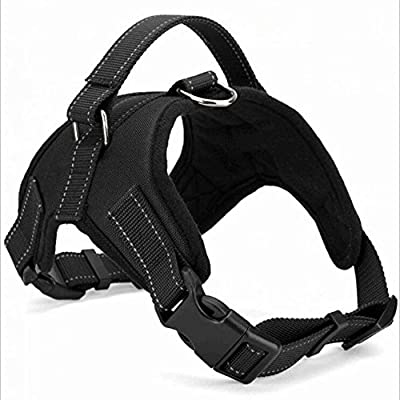Dog Harness Vest No Pull Santune Adjustable Heavy Duty Oxford Reflective Safety Pet Harnesses with Handle for Small Medium Large Dogs Walking Traveling Training