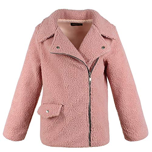 Hiver V en Turn Dames Parka Zipper Collar Femmes Down Manteau Chaud Artificielle Laine Veste qtA8BBO