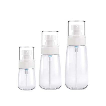 Botellas de plástico transparentes Botellas de viaje Contenedores de líquidos / 3 piezas