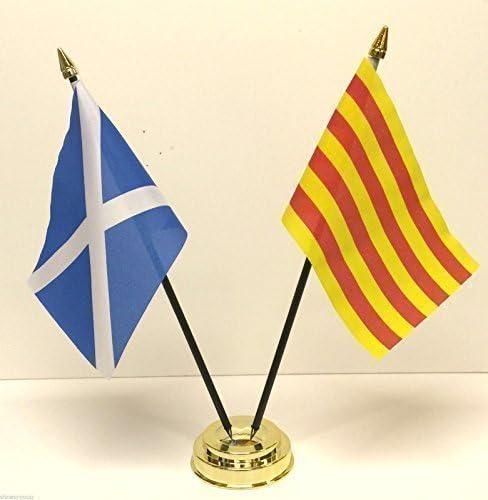 Escocia y Cataluña España doble juego de la bandera de mesa de la ...