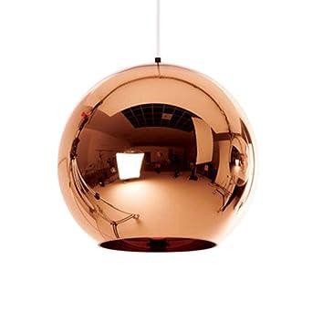Led Creative Bronze Suspensions Éclairage Boule De Globe Pendentif Rj34A5LqSc