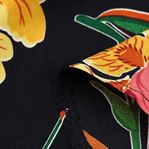 Kimodo Femmes Plage Maxi D'été Floral Boho Robes Longues Robe De Soirée Noire