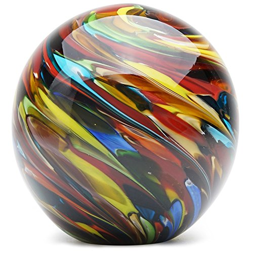 Glass Handmade Large Paperweight - Painter's Palette - 4
