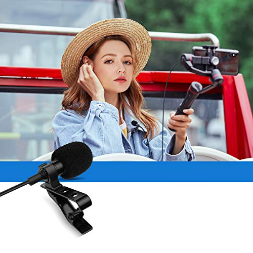 USB-C Lavalier Microphone, Mini Omnidirectional Condenser Type-C Lapel Mic Compatible with Android System for Interview, Vlogging, YouTube, Studio, Video