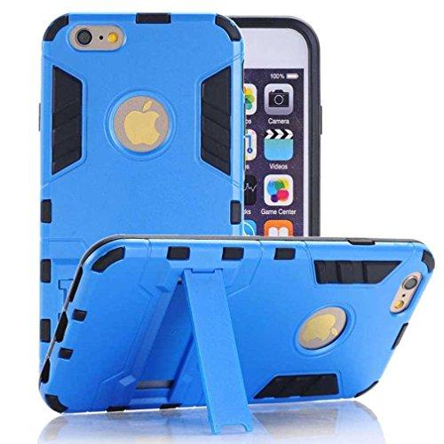 """AOFad Bleu Coque Pour iPhone 5S/5,[4""""] SE Case, Béquille Vidéo, Protection des lourds Plastique TPU 2 à 1 Série TE814"""