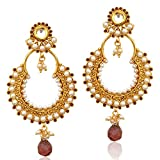 Chand bali earrings pearl hoops earrings hoop earings purple traditional bali ABEA0265PU