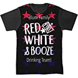 Blum Red White & Booze July 4th: Unisex SubliVie Blackout All Over Print Tee