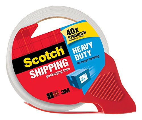051131656659 - Scotch Heavy Duty Shipping Packaging Tape with Refillable Dispenser, 1.88 in x 38.2 yd (3850S-RD) carousel main 0
