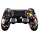 eXtremeRate Scary Party Bomb Front Housing Shell Faceplate for Playstation 4 PS4 Slim PS4 Pro Controller (JDM-040)
