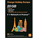 OLO Frog-Orange Holiday Europe – Prepaid SIM Card – 20GB Internet Data in 4G/LTE (Data tethering Allowed) + 120 mn + 1000 Texts in 30 Countries in Europe