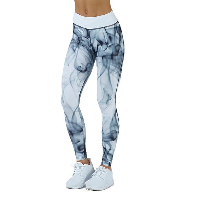 HARRYSTORE Mujer pantalones de Impreso en 3D de yoga ...