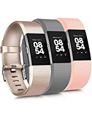 Vancle Replacement Bands Compatible for Fitbit Charge 2 Bands, Soft Silicone Accessory Strap for Fitbit Charge 2 Small Large, No Tracker