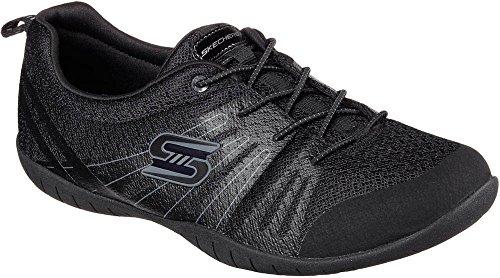Skechers Womens Atomic – Rev It Up Black Sneaker – 9