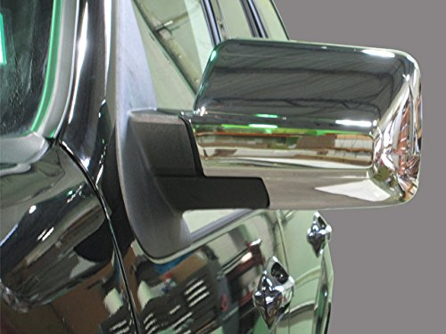QAA FITS Expedition 2007-2017 Ford & Navigator 2007-2017 Lincoln (2 Pc: ABS Plastic Mirror Cover Set - Full, 4-Door, SUV) MC47383 - Ford Expedition Chrome Mirror