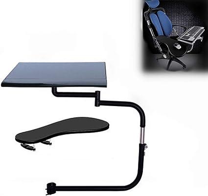 JIASHU Soporte ergonómico para computadora portátil/Teclado/Mouse para estación de Trabajo/Videojuegos/Etc, Soporte de Teclado de sujeción de Silla de ...