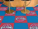 Fan Mats Detroit Pistons Carpet Tiles,18'' x 18'' Tiles