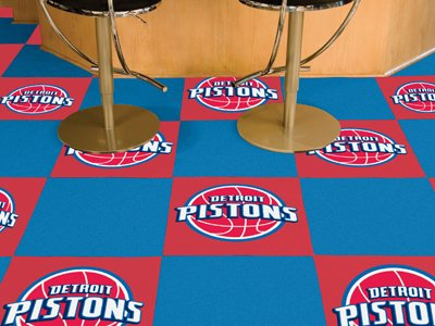Fan Mats Detroit Pistons Carpet Tiles,18'' x 18'' Tiles