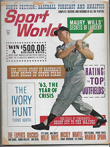July 1963 Issue Of Sport World Magazine Mickey Mantle On The Cover