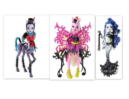 Monster High Freaky Fusion Hybrids Bonita Femur Avea Trotter Sirena Von Boo Bundle of 3 Dolls (Monster High Hybrid)