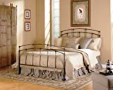 Fashion Bed Group 5/0 Fenton Complete Metal Duo Panels and Globe Finials, Black Walnut Finish, Queen Review