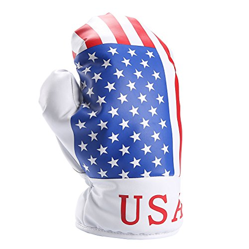 Casar Golf USA Boxing Glove Patriotic Theme Golf Cover Driver Headcover Protector fits ALL Brands fits 460cc 440cc 430cc Driver Clubs (460cc Driver)