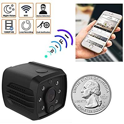 Mini Spy Camera WiFi Hidden - Nanny Cam for Home Security, Wireless with Cell Phone App for Video on Device. Night Vision 140 Degree View. Indoor Motion Detector. HD 1080P, Recorder, USB Charger. by Shenzhen LJB Technology Co.,Ltd