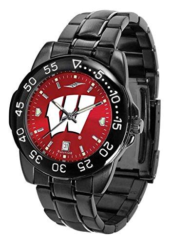Wisconsin Badgers Fantom Sport AnoChrome Men's Watch - Sport Metal Anochrome Watch