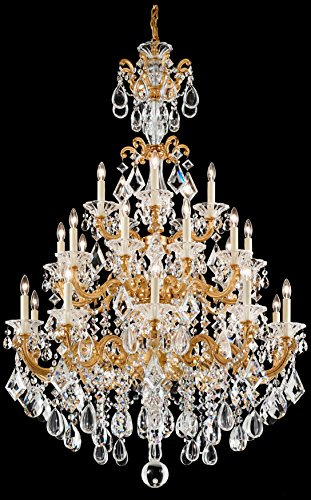 Schonbek 5012-55O Swarovski Lighting La Scala Chandelier, Wet Black