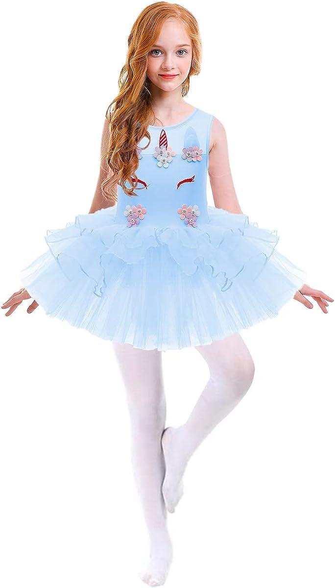 iiniim Kinder M/ädchen Ballettanzug Gl/änzend Langarm Tanz Body Ballett Trikot Ballettkleidung
