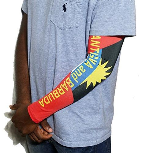 BUNFIREs Antigua Antiguan Flag Rasta Arm or Calf Sleeve Medium size 1 Sleeve For Men Women Sunblock Cooler Protective Sports by BUNFIREs